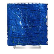 Subatomic Particles In Blue State Shower Curtain