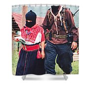 Subcommandante Marcos And Ramona Shower Curtain