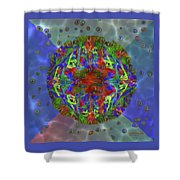 Submerging Fractals Shower Curtain
