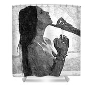 Submission In Black - Obey Shower Curtain