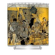 Submitted Cd Cover For The Band Bebop Complex 50's Jazz Revisited Shower Curtain