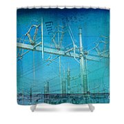 Substation Insulators Shower Curtain