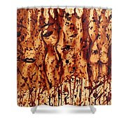 Subtle Atraction Coffee Painting Shower Curtain