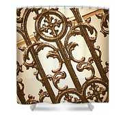 Subtle Southern Charm In Sepia Shower Curtain