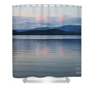 Subtle Sunset On Priest Lake Shower Curtain
