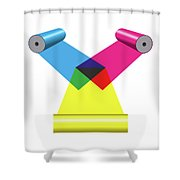 Subtractive Color Mixing With Print Cylinders Shower Curtain
