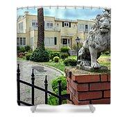 Suburban Antique House With Lion Hayward California 22 Shower Curtain