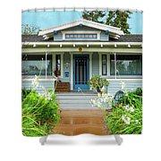 Suburban Arts And Crafts House Hayward California 8 Shower Curtain