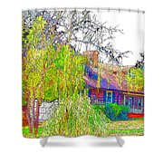 Suburban Home 3 Shower Curtain