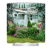Suburban House Hayward, California 7, Suburbia Series Shower Curtain