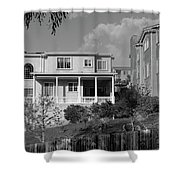 Suburban House On Hayward Boulevard Hayward California 2 Shower Curtain