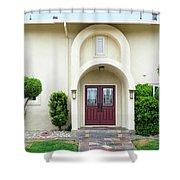 Modern Suburban House With Topiary Hayward California 31 Shower Curtain