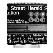 Subway 34 Street Shower Curtain