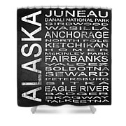 Subway Alaska State Square Shower Curtain