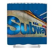 Subway Entrance Shower Curtain