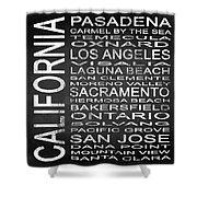 Subway California State 2 Square Shower Curtain