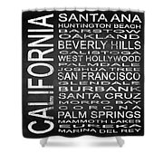 Subway California State Square Shower Curtain