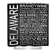 Subway Delaware State Square Shower Curtain