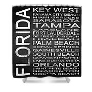 Subway Florida State 3 Square Shower Curtain
