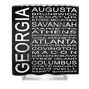 Subway Georgia State Square Shower Curtain