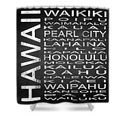 Subway Hawaii State Square Shower Curtain