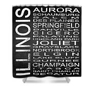 Subway Illinois State 2 Square Shower Curtain