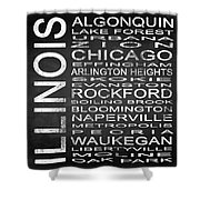 Subway Illinois State Square Shower Curtain
