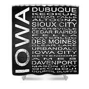 Subway Iowa State Square Shower Curtain