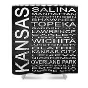 Subway Kansas State Square Shower Curtain
