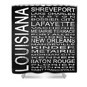 Subway Louisiana State Square Shower Curtain