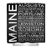 Subway Maine State Square Shower Curtain
