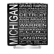 Subway Michigan State Square Shower Curtain