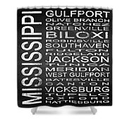 Subway Mississippi State Square Shower Curtain