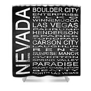 Subway Nevada State Square Shower Curtain