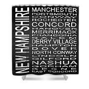 Subway New Hampshire State Square Shower Curtain