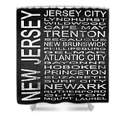 Subway New Jersey State Square Shower Curtain