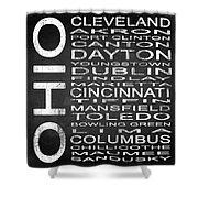 Subway Ohio State Square Shower Curtain
