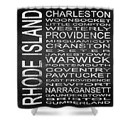 Subway Rhode Island State Square Shower Curtain