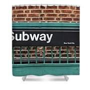 Subway Sign In New York City Shower Curtain