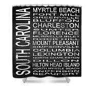Subway South Carolina State Square Shower Curtain