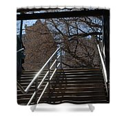 Subway Stairs Shower Curtain