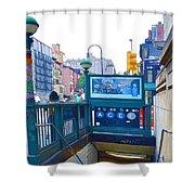 Subway Station Entrance 2 Shower Curtain
