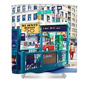 Subway Station Entrance 4 Shower Curtain