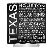 Subway Texas State Square Shower Curtain