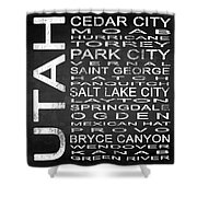 Subway Utah State Square Shower Curtain