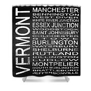 Subway Vermont State Square Shower Curtain
