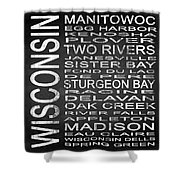 Subway Wisconsin State Square Shower Curtain