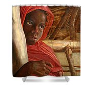 Sudanese Girl Shower Curtain