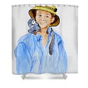 Sue And Pepita Shower Curtain