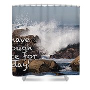 Sufficient Grace - Text Full Shower Curtain